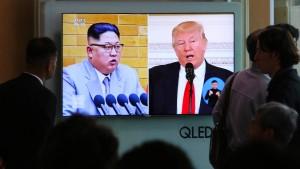 Trump beharrt auf Sanktionen gegen Pjöngjang