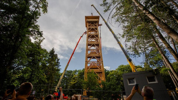 Neuer Goetheturm nimmt Gestalt an