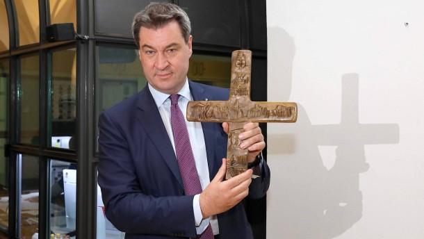 Markus Söder und sein Kreuz