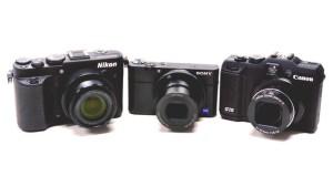 Drei kleine Spiegelreflexkameras