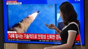 Nordkorea feuert wieder Raketen ab