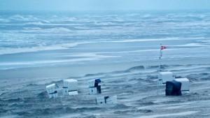 Steife Brise an der Nordsee