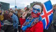 Das Gesicht der Europameisterschaft: Public Viewing in Reykjavík ist in diesen Tagen ein grenzenloser Spaß.