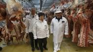 WHO-Chefin Margaret Chan auf dem Markt nahe Paris.