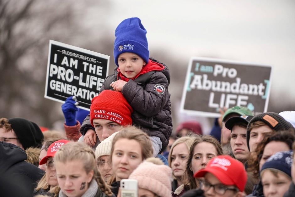 In Washington kommen die Abtreibungsgegner jedes Jahr zu einer riesigen Demonstration zusammen.