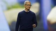 Apple-Chef Tim Cook bei der Produktankündigung.