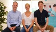 Das Gründer-Trio der Teleclinic will Ergänzungen zu Arztbesuchen bieten.