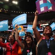 """""""Stärker vereint"""", diesen Slogan müssen die Demokraten im Präsidentschaftswahlkampf nun beherzigen."""