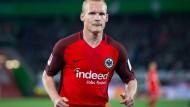 Einmal Frankfurt und zurück: Rode ist nach überstandener Verletzung wieder für die Eintracht am Ball.