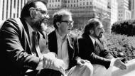 """Francis Ford Coppola mit Woody Allen und Martin Scorsese in """"New York Stories"""", 1989"""