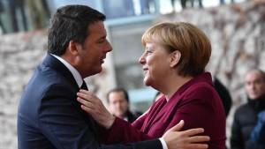 Merkel bedauert Renzis Rückzug