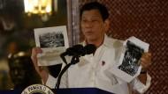 Schon im frühen 20. Jahrhundert hätten amerikanische Truppen auf den Philippinen Muslime getötet, betonte Präsident Rodrigo Duterte in Manila.