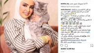 Ein Herz für Katzen, aber nicht für Gastarbeiter: Instagram-Post von Sondos Alqattan