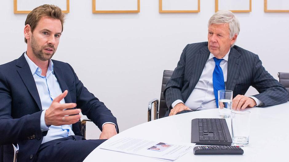 Jens Ehrhardt (rechts) ist einer der erfolgreichsten Vermögensverwalter Deutschlands. Sein Sohn Jan (links) eifert ihm nach.