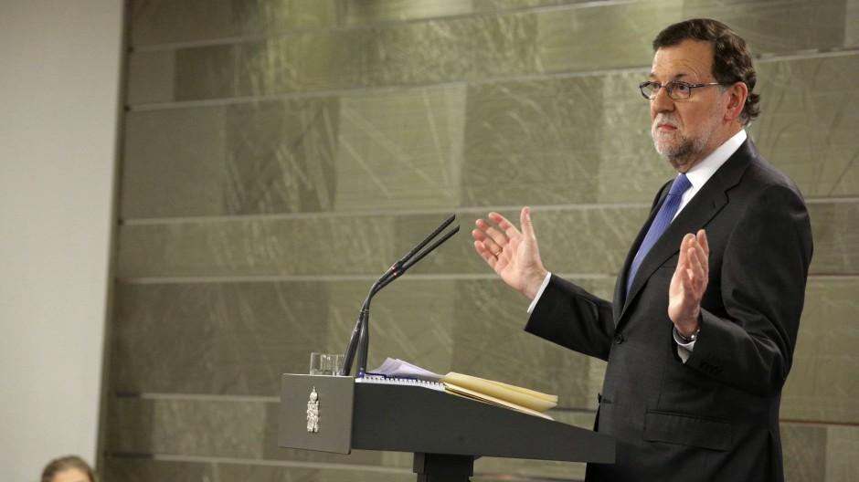 Geschäftsführend im Amt: Ministerpräsident Mariano Rajoy