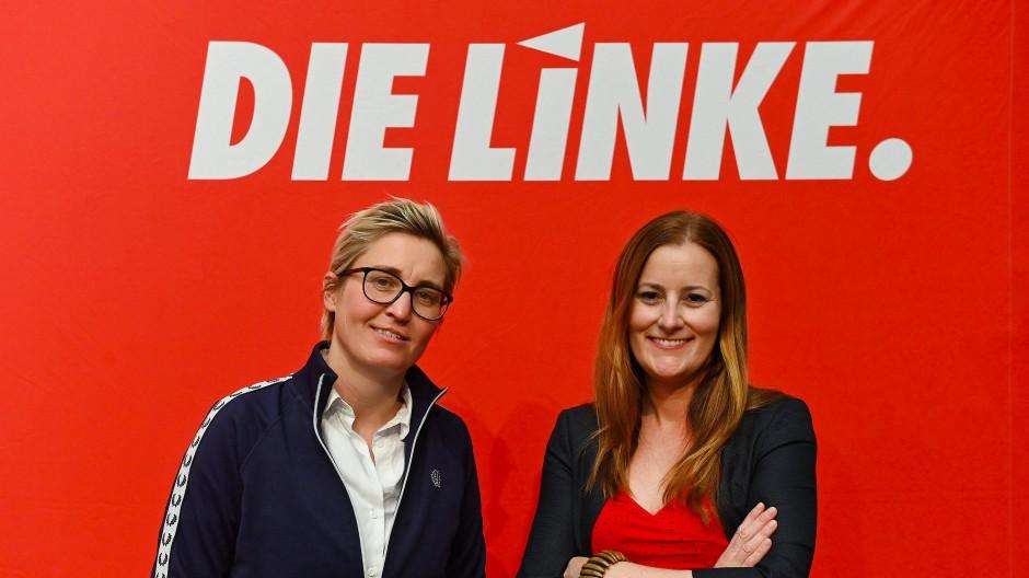 Die wohl zukünftige Doppelspitze der Linkspartei: Susanne Hennig-Wellsow (links) und Janine Wissler