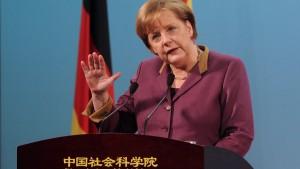 """Merkel mahnt einen """"ehrlichen Austausch"""" an"""