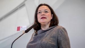 Nahles bekräftigt SPD-Absage