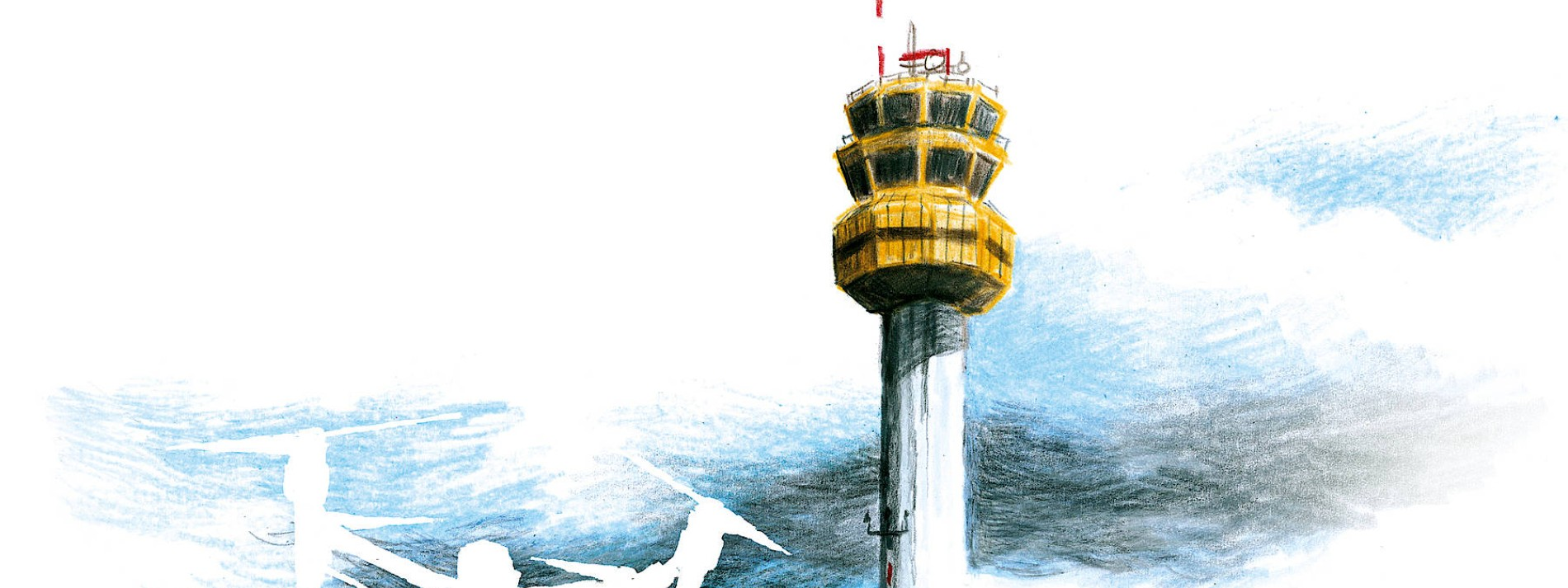Drohne über Tower