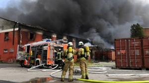 Großbrand in Berliner Markthalle