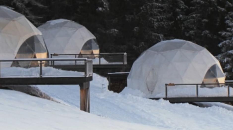Schnee und Sternenhimmel: Übernachten im Luxuszelt