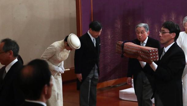 Kaiser Akihito verabschiedet sich vom japanischen Volk