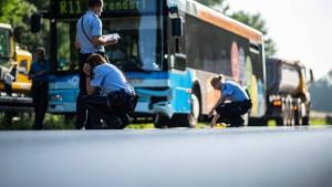Linienbus in Münster verursacht Massencrash