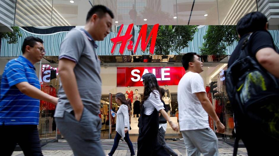 Eine H&M-Filiale in Hongkong
