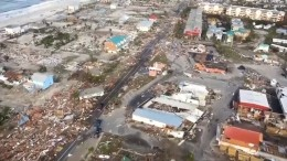 Chaos und Zerstörung duch Hurrikan Michael