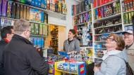 Es gibt ihn wirklich: Kunden kommen in Thomas Pankes Laden nach Frankfurt und staunen.