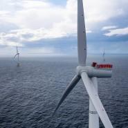 Vorzeigeprojekt: der schwimmende Hywind- Windpark vor der schottischen Küste.