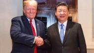 Amerikas Präsident Donald Trump mit seinem chinesischen Amtskollegen Xi Jinping