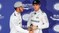 Der Tüftler Nico Rosberg schlägt im Qualifying seinen Rivalen und Naturtalent Lewis Hamilton.