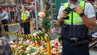 Zeichen der Trauer an Gleis 7: der Hauptbahnhof in Frankfurt einen Tag nach der Tat
