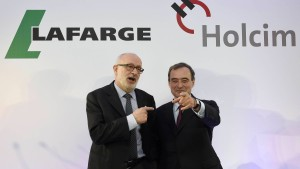 Lafarge und Holcim unmittelbar vor Megafusion