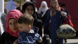 Flüchtlinge werden in der Türkei aufgehalten