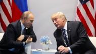 Blendend unterhalten? Donald Trump und Wladimir Putin in Hamburg