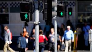 Ampelfrauen in Melbourne als Zeichen der Gleichberechtigung