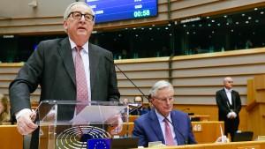 Juncker: Votum in London erhöht Risiko eines harten Brexit