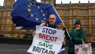 Protest gegen den Brexit vor dem Parlamentsgebäude in London