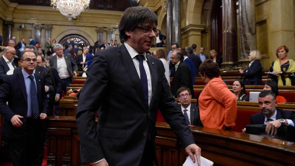 Katalonien-Krise: Katalanischen Regierung soll abgesetzt werden