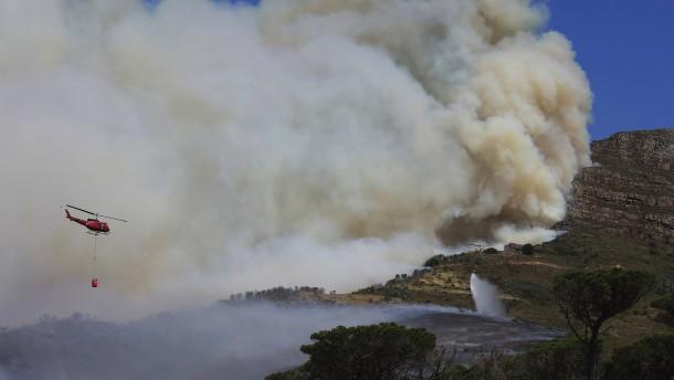 Kapstadts Universität in Flammen