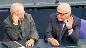 Schäuble kritisiert Einigung auf Steinmeier als Niederlage