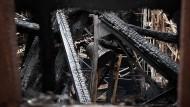 Juni 2014: Blick in die Kirche St. Martha in Nürnberg, die komplett ausbrannte. Inzwischen ist sie wieder saniert.
