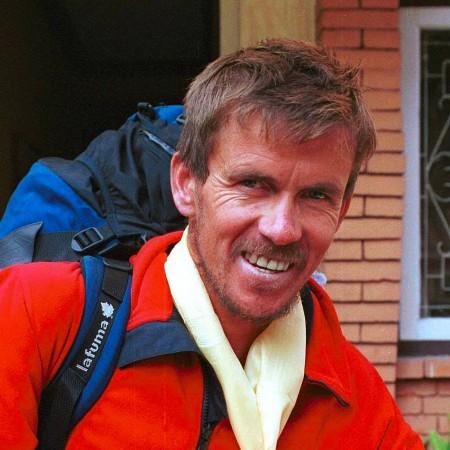 Davo Karnicar im Jahr 2000 auf seinem Rückweg nach Kathmandu