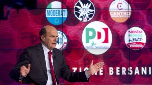 Bersani on television show prior to elections