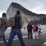 Arbeitnehmer auf dem Weg von Spanien nach Gibraltar.