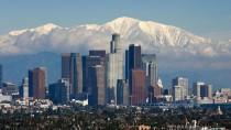 Auf ins Zentrum! Blick auf die Skyline von Los Angeles