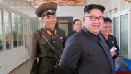 Propagandafoto von Nordkoreas Machthaber Kim Jong-un