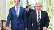 Assad und Putin bei einem Treffen in Moskau: Die syrische Führung ist nun noch stärker von Russland abhängig.